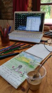 Mon bloc de dessin et moi