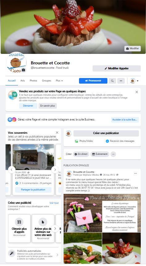 page facebook Brouette et Cocotte